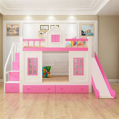 Beds With Slides by Wood Bunk Bed With Stairs And Slide Option And