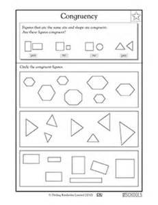 3rd grade math worksheets congruent shapes 3rd grade