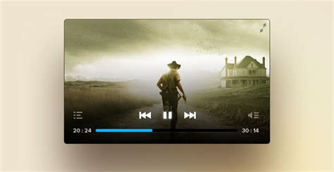 cool psd video player freebiesbug