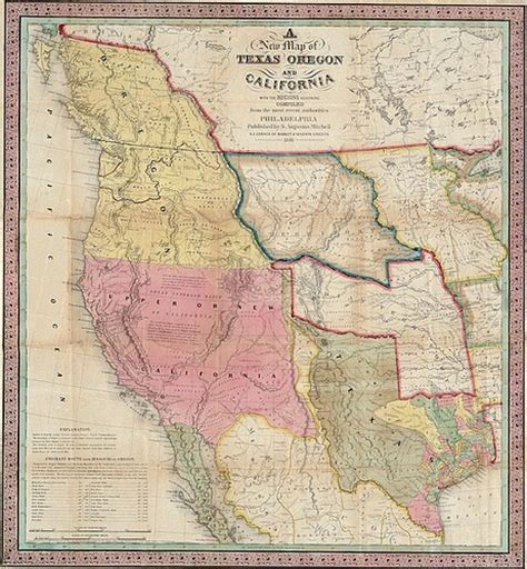 map of oregon california map of california and oregon 1846 cartography and