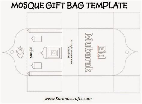 mosque pledge cards template karima s crafts mosque gift bag template 30 days of