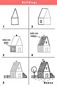 how to draw houses drawing cartoons house draw step by step fun creative kids