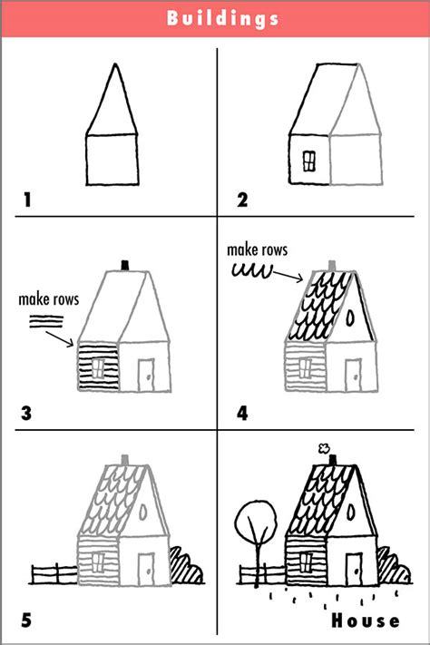 how to draw a house step by step house drawing try it draw with rich