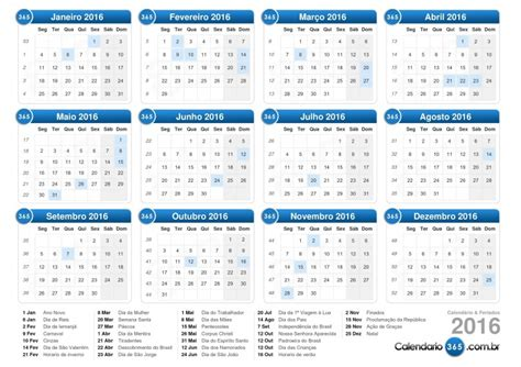 Calendario C Feriados 2016 R 225 Dio Pelotense Not 237 Cias Jornal Regional Feriados