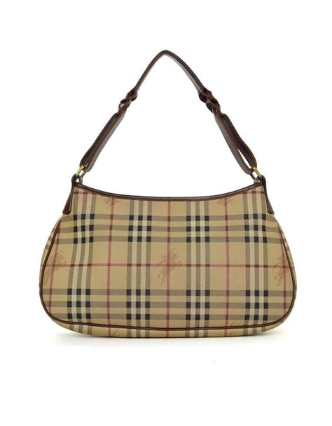 Burberry Plaid Shoulder Bag by Burberry Plaid Coated Canvas And Leather