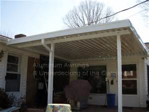 residential aluminum awnings aluminum awnings residential deck covers nc sc