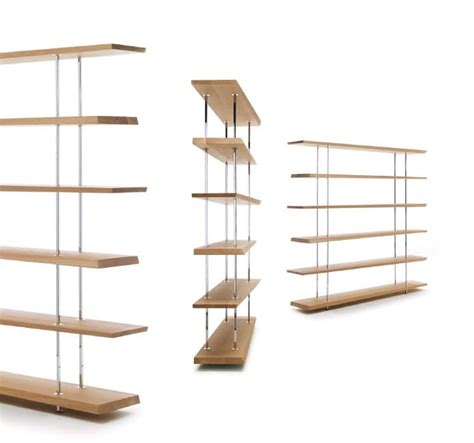 modern library in metal with shelves in solid oak idfdesign