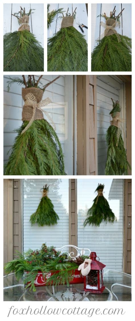 christmas decorating with natural elements weather resistant outdoor decorating ideas fox hollow cottage