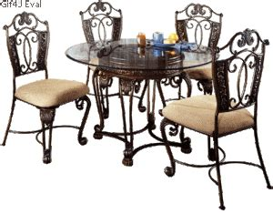 glass top dining table with four chairs gallery
