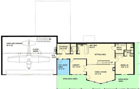 hangar home floor plans custom northwest home with airplane hanger 35475gh