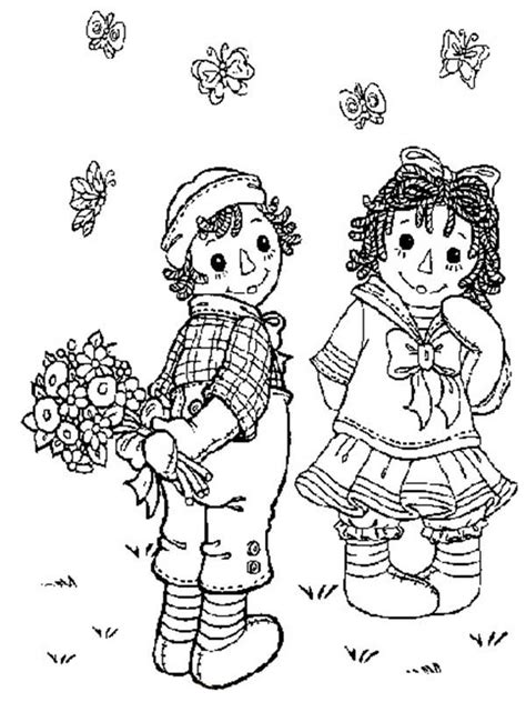 raggedy ann coloring pages for raggedy ann from andy