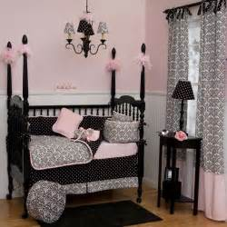Black White And Pink Crib Bedding Black And White Damask Crib Bedding Traditional Atlanta By Carousel Designs