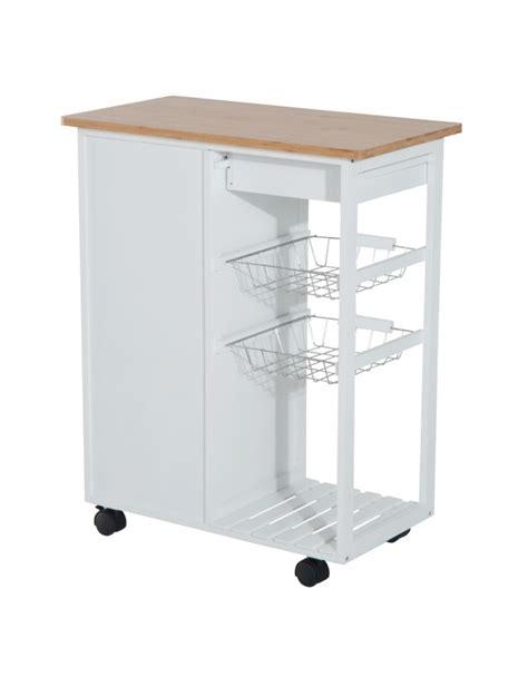 carrello cucina con cassetti homcom carrello da cucina con cassetti e 2 cesti