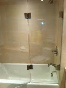half glass shower door for bathtub folding back screen artistcraft
