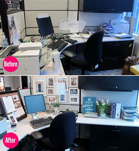 Organize Desk At Work Best 25 Cubicle Makeover Ideas On