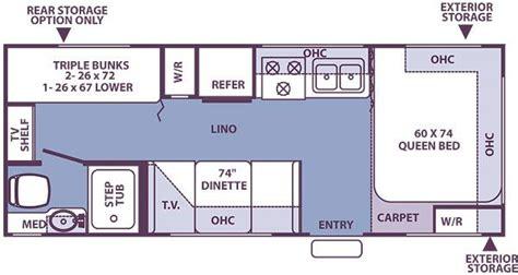 24 foot motorhome floor plans custom 24 ft travel trailer floorplans search