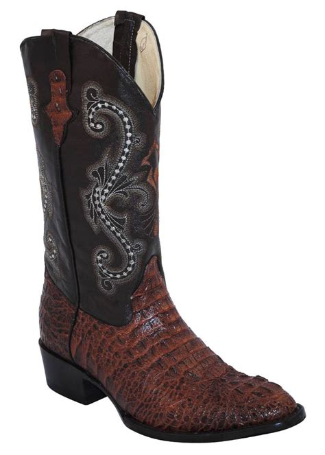 mens ferrini boots ferrini western boots mens caiman croc sport rust brown r