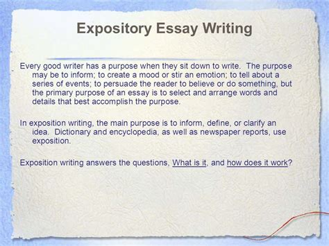 Expository Essays by Essay Writing Expository Essay Character Analysis Ppt