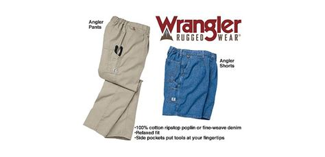 cabelas rebate codes 2014 wrangler 174 angler and shorts cabela s