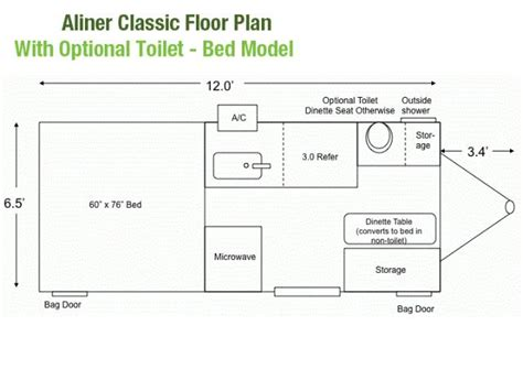 aliner floor plans 2013 aliner classic high wall for sale by owner littleton