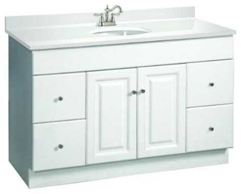 wyndham white semi gloss vanity cabinet with 2 doors and 4