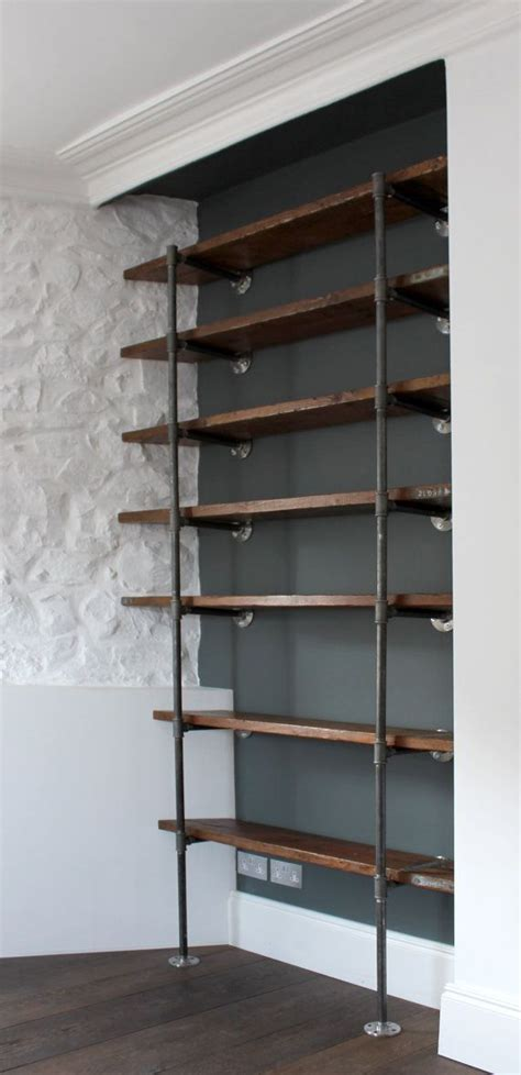 industrial chic shelving best 25 wall mounted bookshelves ideas only on