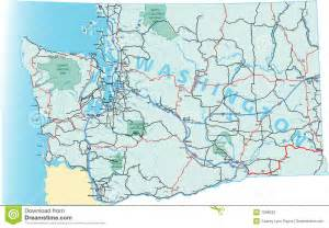 Washington Road Map by Washington State Road Map Stock Photos Image 7698633