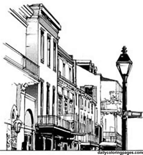 French Quarter Coloring Page | french quarter coloring drawing zentangle pinterest