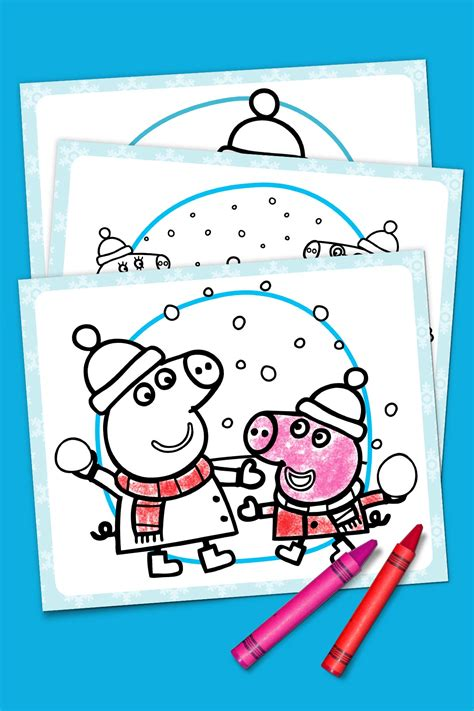 nick jr winter coloring pages peppa pig winter coloring pack nickelodeon parents