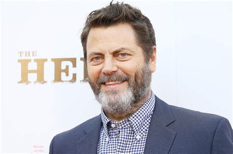 nick offerman news nick offerman says parks and recreation creator told him
