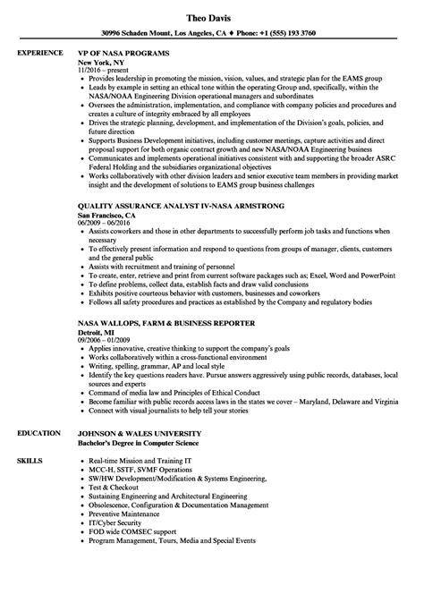 Nasa Aerospace Engineer Sle Resume by Aeronautical Engineer Sle Resume Customer Account Representative Sle Resume