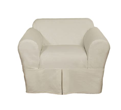 cotton slipcovers classic slipcovers cotton twill 2 piece chair slipcover