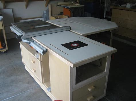 table saw work station ridgid plumbing woodworking and power tool forum