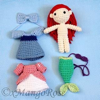 amigurumi ariel pattern this digital download crochet pattern will produce an