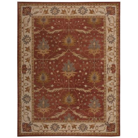 Area Rugs From India Nourison India House Brick 5 Ft X 8 Ft Area Rug 261632 The Home Depot