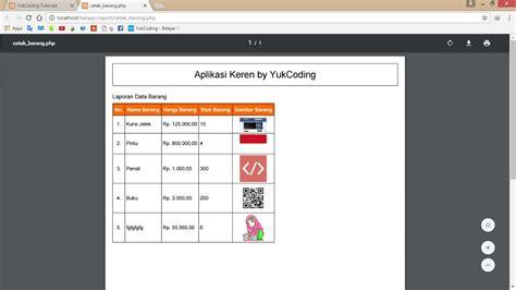 tutorial html2pdf php membuat report pdf dengan looping gambar menggunakan