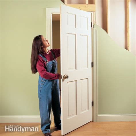 How To Fix A Closet Door How To Repair Interior Doors The Family Handyman