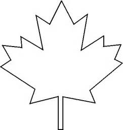 Maple leaf template to print clipart best