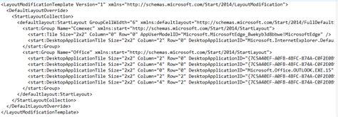 export start menu layout xml customizing the windows 10 start menu and add ie shortcut