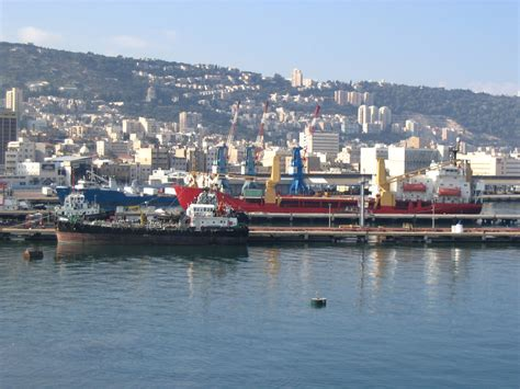 what is a port file port of haifa viewed from the sea jpg wikimedia