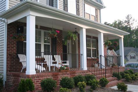 Beauteous image of front porch columns decoration using