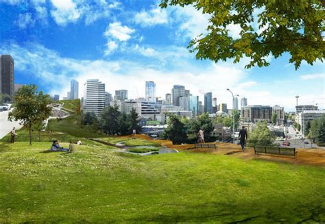seattle parks seattle design covers highway with an elevated park and affordable housing