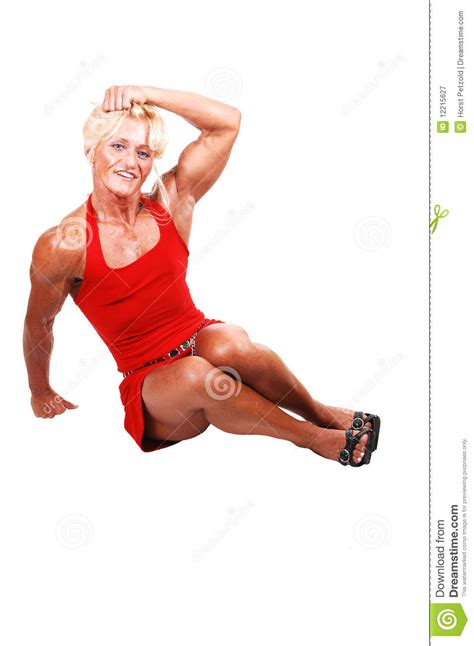 bodybuilding woman stock image image  blond muscle