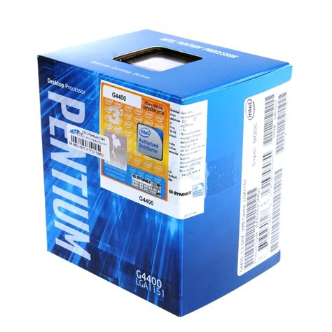 Processor Intel G4400 Box cpu intel pentium g4400 box ingram synnex