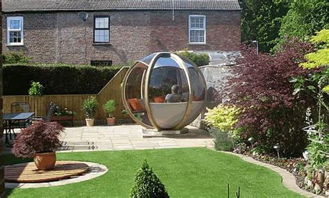 backyard house ideas sphere garden houses adding contemporary touch to backyard