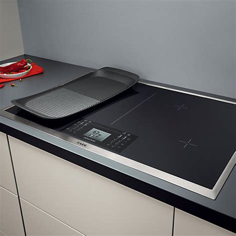 large pans for induction hob aeg hk884400xg 80cm maxisight touch maxisense induction ceramic hob ebay