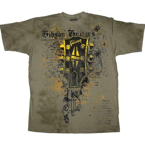Gibson Usa Logo Black T Shirt gibson shirts gibson headstock s washed t shirt
