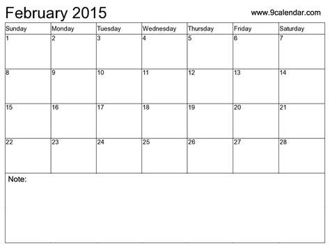 Calendar Template February 2015 by February 2016 Calendar Template 2017 Printable Calendar