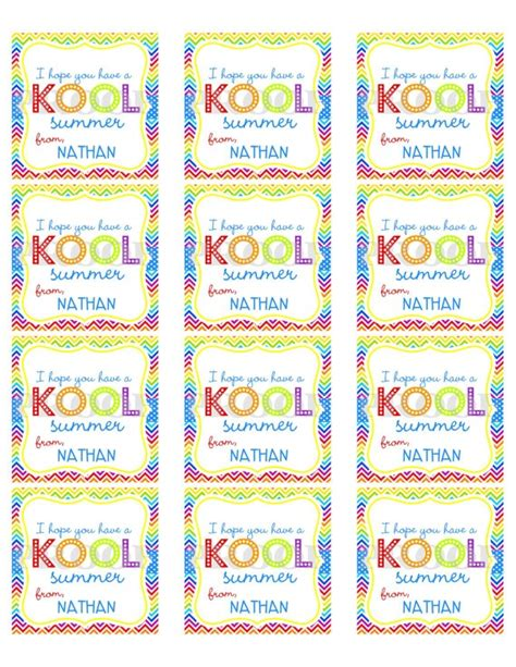 free printable gift tags summer 6 best images of have a crazy cool summer printable have