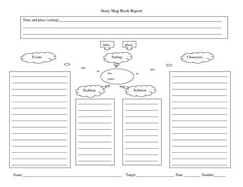 story mapping template 4 best images of story book printable template character